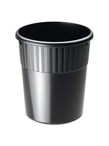 Rotho Spacemaker, Cesto de basura 18l, Plástico PP sin BPA, negro, 18l 31.0 x 31.0 x 35.0 cm