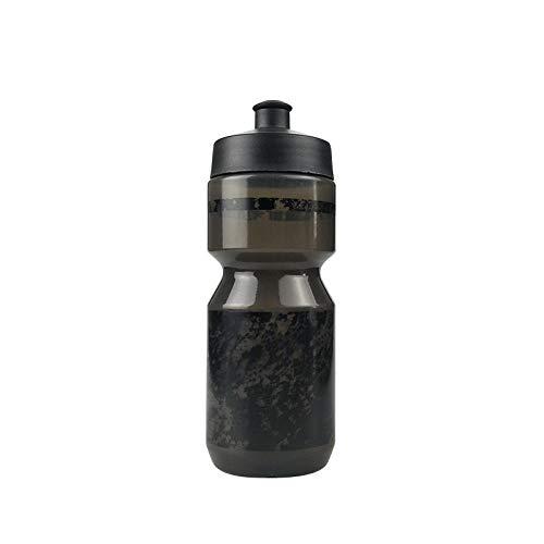 Jusemao Ciclismo Botella de agua Senderismo Escalada Baloncesto Al aire libre Exprimir Recto Agua a Prueba de fugas Deportes Botella de agua de plástico 500ml-black_500ml