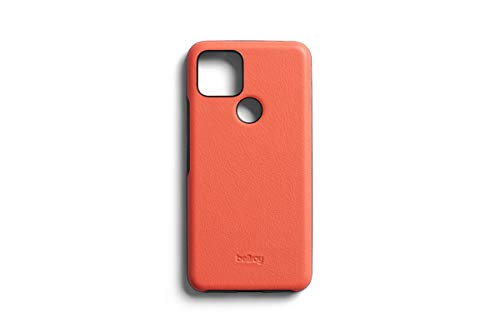 Bellroy Pixel 5 Hülle (Leather Google Pixel Phone Cover, Super Slim Profile, Soft Microfiber Lining) - Coral