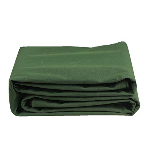 WYF Lona Impermeable 2 × 2 m, Paño de toldo para Panel de Piso a Prueba de Lluvia, Piel de protección Solar para Exteriores, Lona Impermeable de Doble Cara Gruesa, Verde, 600 g/m²