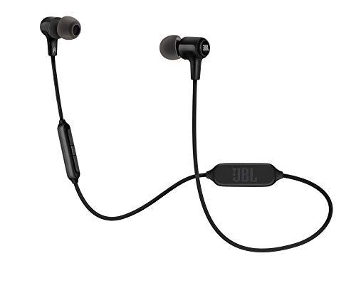 JBL E25BT In Ear Bluetooth Kopfhörer - Kabelloser Ohrhörer mit 3-Tasten-Fernbedienung und Mikrofon - Wireless Headphones für bis zu 8 Stunden Musik und Telefonate Schwarz