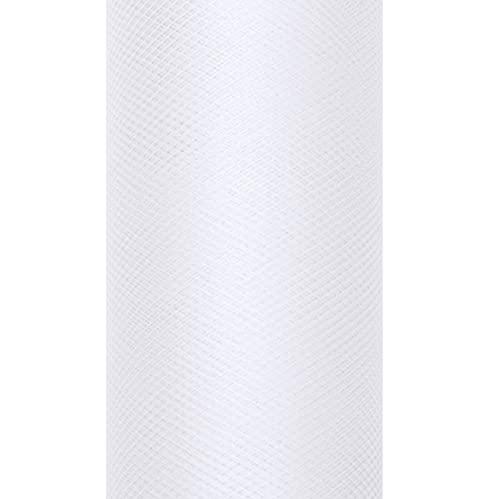 Party Décoration Mariage - Rouleau de tulle grande largeur 50cm x 9 mètres blanc Tulles mariage grande largeur 50cm