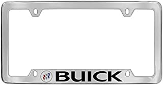 Buick 1980-2001 Logo Bottom Engraved Chrome Plated Brass License Plate Frame