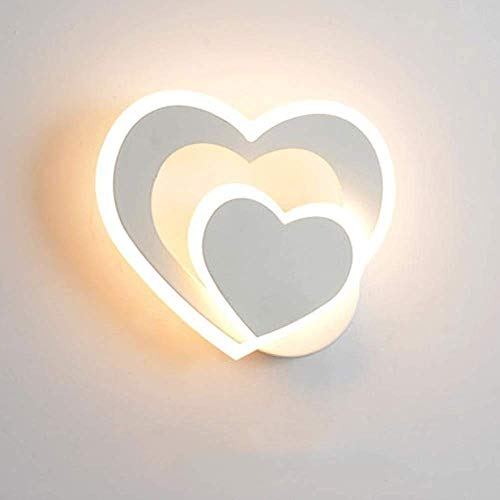 Oświetlenie dekoracyjne Kinkiet Led, nowoczesne kinkiety Ciepłe białe wewnętrzne W kształcie serca Dekoracyjna lampka nocna Sypialnia Salon Przedpokój Dekoracja artystyczna
