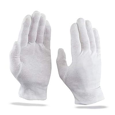 KAMUM 100% Baumwollhandschuhe weiß