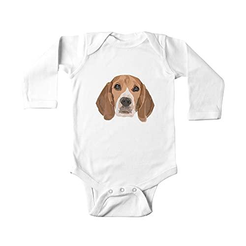 Huang Beagle Face Digital Ilustración Bebé De Una Pieza