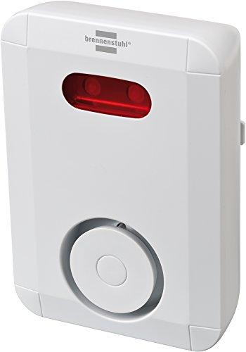 Brennenstuhl Brematicpro Funk-Sirene (Smart Home Alarmsystem für außen, Alarmierung akustisch und optisch, mit App-Funktion) weiß