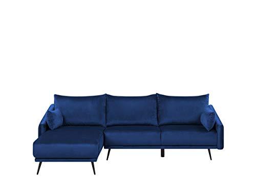 Beliani VARDE - Hoekbank - Blauw