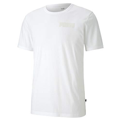 PUMA Herren Modern Basics Tee T-Shirt, White, M