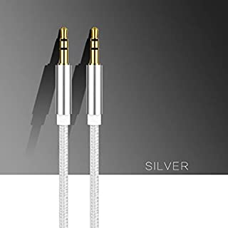 3.5mm Aux Cable, 3.5mm Male to Male Stereo Auxillary Audio Cables, Compatible with Headphones, Smartphones, Home/Car Stere...