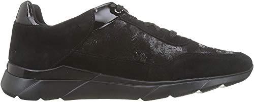 Geox Damen D Hiver A Sneaker, Schwarz (Black C9999), 40 EU