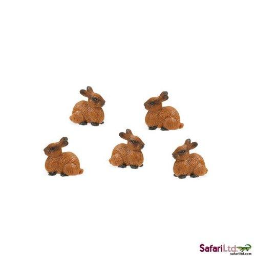 Safari Ltd. - Good Luck Minis - Glücksminis - Hasen 5 Stück