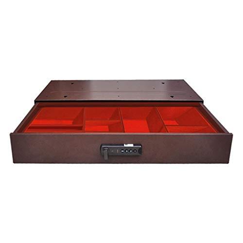 TYLZDZ Cajas Fuertes Caja Fuerte Tipo Cajón Mini Caja Fuerte con Desbloqueo De Contraseña Electrónica para El Hogar Archivador Oculto De Oficina Marrón (Color : Brown, Size : 50 * 28 * 8cm)
