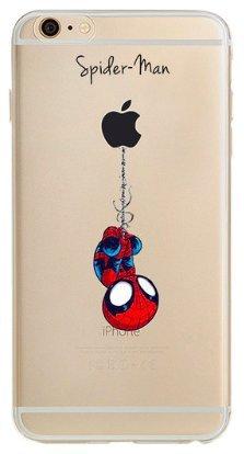 Art Design Funda iPhone 7 / iPhone 8 Spiderman Super heroe Marvel Super Hero Carcasa de Moviles Fundas Carcasas Caso Silicón