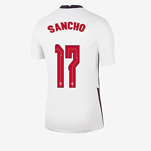 Ayundong 2021 Inglaterra Sancho Camiseta de Futbol de Hogar para Hombre Talla...