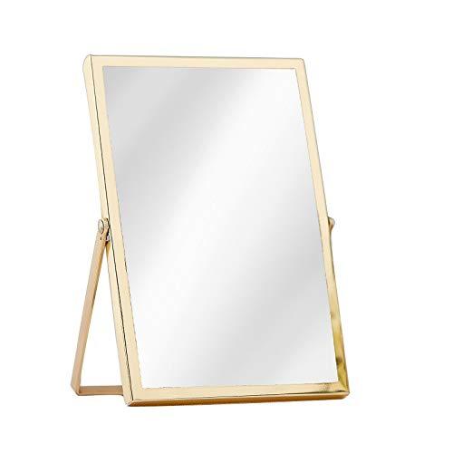 Bilder-Rahmen/Foto-Rahmen aus Glas 15 x 10cm / Photo-Zubehör freihstehend inklusive Fuß/Gold-Rand/Wohnungs-Dekoration modern/Deko-Frame