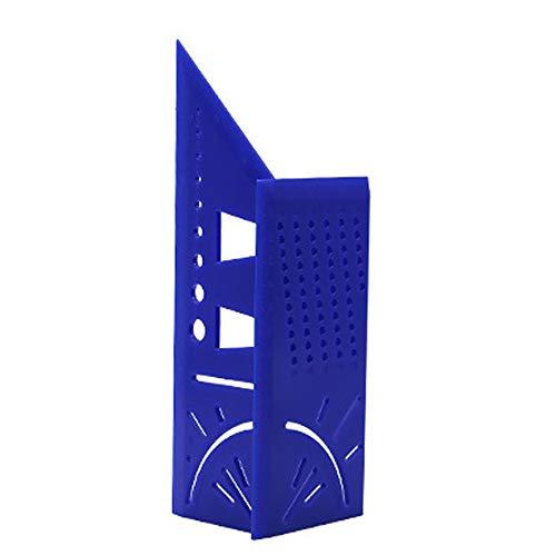 ACECITY 3D Hoek Meetgereedschap Vierkant Houtspechten Timmerlieden Gereedschap Set Meetliniaal met Gauge en Liniaal Blauw