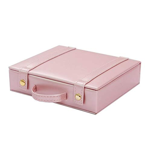 Siwetg Sweet Roze juwelendoosje, draagbaar leer, oorring, sieraden, opbergdoos, reistas