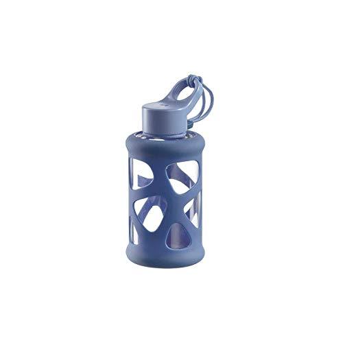 Leonardo Trinkflasche In Giro 700 ml, To Go, Borosilikatglas, Schutzhülle, spülmaschinenfest, stoßfest beige, 028911