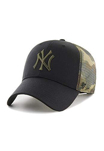 47Brand MVP Trucker Cap NY Yankees B-BCKSW17CTP-BK Schwarz Camo, Size:ONE Size