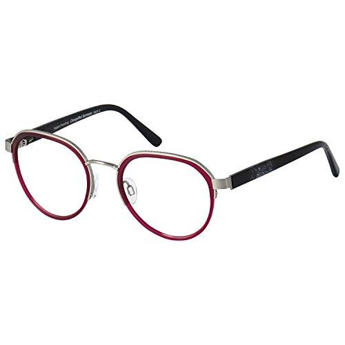 Change Me Brille 2416-1 mit Wechselbügel 8620-2 silber mit rot