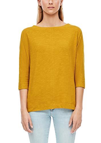 s.Oliver Damen 3/4-Arm-Shirt mit Fledermausärmeln Yellow 46