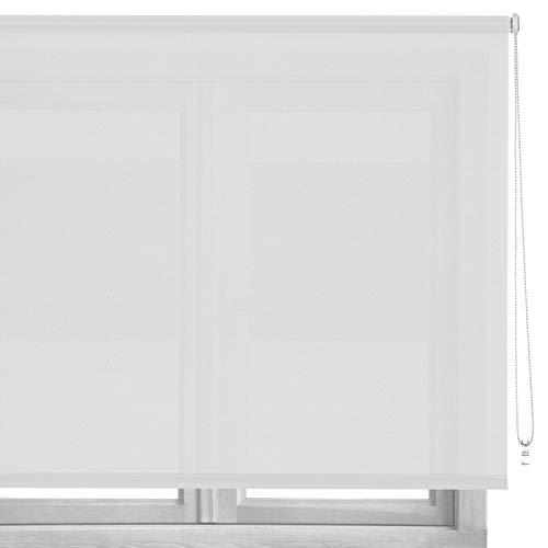 Estor Enrollable Blanco de Tela de 180x160 cm - LOLAhome