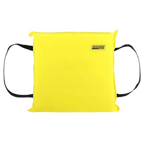 Seachoice 44900 Emergency Marine Foam Flotation Cushion, Square, 15-Inch x 15-Inch, Safety Yellow (50-44900)