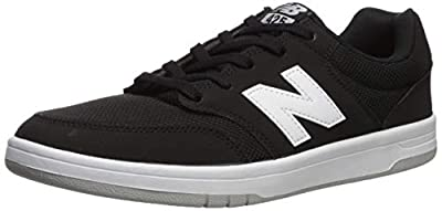 New Balance Men's All Coasts 425 V1 Skate Sneaker, Black/White, 9.5 D US