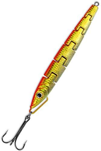 Storfisk fishing & more Norwegen Island und Ostsee Pilker (100 g, 150 g, 300 g) mit Drilling Meerespilker 6-TLG. sektioniert zum Angeln, Gewichte:100 Gramm, Farbe:Orange/Gold