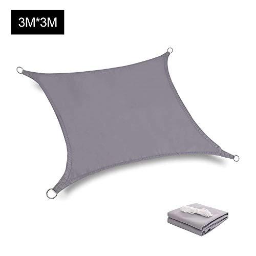 Zonnescherm Sail 3 x 3m Rectangle Waterproof Sunscreen Canopy Luifel, 98 UV-bescherming En 90 Schaduwsnelheid, Voor Binnenplaatsen, Gazons, Tuinen, Zwembaden