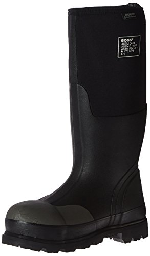Bogs Men's Forge Steel Toe Waterproof Rubber Work Rain Boots