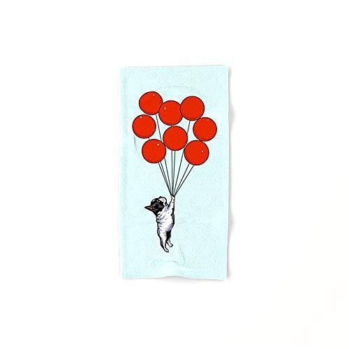 N/A Ik geloof dat ik kan vliegen Franse Bulldog Badhanddoeken katoenen handdoek Set Egyptische katoenen handdoek Set ultra absorberende Travel Sport 40x70cm Zeer absorberend 27.5 * 15.7in
