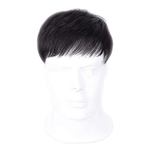 Levensechte Pruik Heren pruik, mannelijke kort haar, knappe hoofd top vervanging stuk Mannelijke pruik stuk kaal top echt haar vervanging Comfortabel