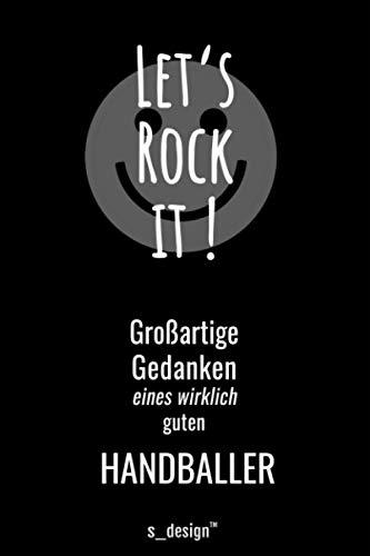 Notizbuch für Handballer / Handball-Spieler: Originelle Geschenk-Idee [120 Seiten liniertes blanko Papier]