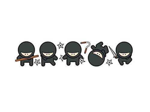 Vinilo adhesivo para pared con diseño de ninja de dibujos animados para el hogar, decoración de pared, diseño de graffiti