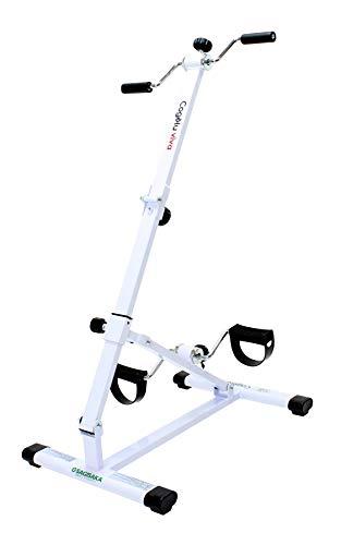 サギサカ(SAGISAKA) フィットネスバイク ルームサイクルこげーるVIVA 自宅で簡単に手足のトレーニングができる 折りたたみ式でコンパクト収納 9030 アイボリー