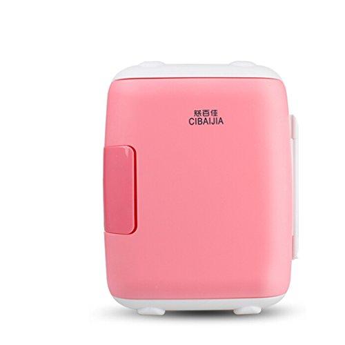JCOCO Frigo da 5 Frigoriferi Mini Frigo Reefer Box (uso domestico e auto) (colore : Rosa)