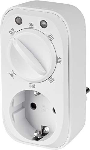 Temporizador analógico de 3600 W con sensor crepuscular y cuenta atrás.