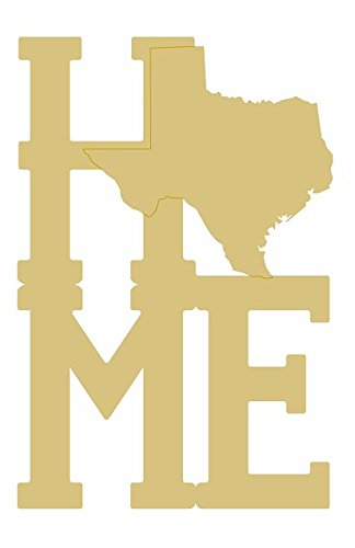 Home Texas Cutout Unfinished Wood State Lone Star State Personalized Gift MDF Shape Canvas Style 1