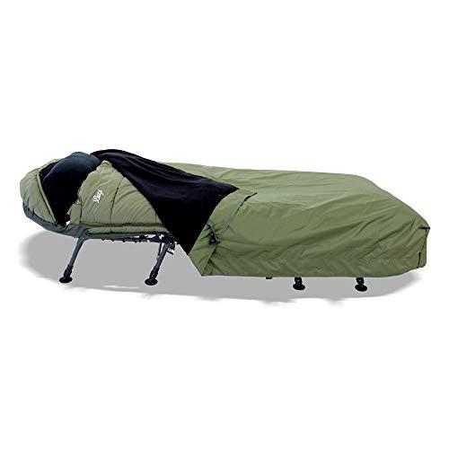 Lucx® Guardian Bedchair Cover Abdeckung für Angelliege & Schlafsack Schutzhaube für Karpfenliege Rain Cover mit Moskitonetz nur Decke Keine Liege und kein Schlafsack