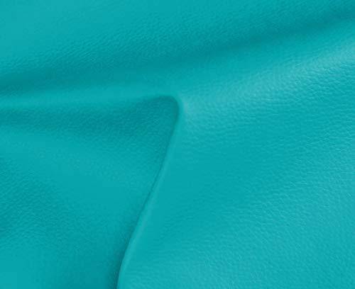 HAPPERS 0,50 Metros de Polipiel para tapizar, Manualidades, Cojines o forrar Objetos. Venta de Polipiel por Metros. Diseño Solar Color Turquesa Ancho 140cm