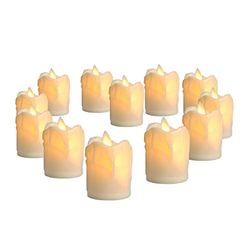 Arotelicht 12 velas LED sin llama velas LED luces de té luces de velas eléctricas parpadeantes decoración LED con pilas para árbol de Navidad