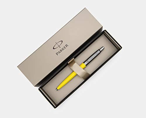 Unique Edition Parker Jotter Ballpoint Medium Point Pen Yellow with Elegant Parker Gift Box
