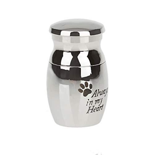 Envio Internacional del Gato del Perro Ataúdes Urnas For Mascotas Cenizas Mini Recuerdo Cremación Memorial Urnas De Cremación De Acero Inoxidable Mini Pata del Animal Doméstico