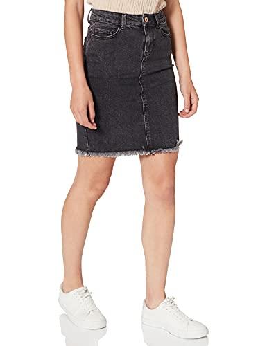 ONLY Damen onlELIZA REG RawEdge DNM Skirt 09NOOS Rock, Grau (Medium Grey Denim Medium Grey Denim), (Herstellergröße: 38)