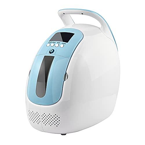 TOPQSC Portatile Concentratore di Ossigeno 1-5 L/min Macchina di Ossigeno Con Telecomando 90% di Elevata Purezza Casa Purificatore d'aria Per Uso Domestico, di Viaggio o Auto