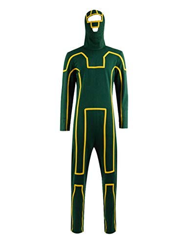 IDEALcos Dave Lizewski Cosplay Kostüm Halloween Zentai Jumpsuit (XS, Grün)