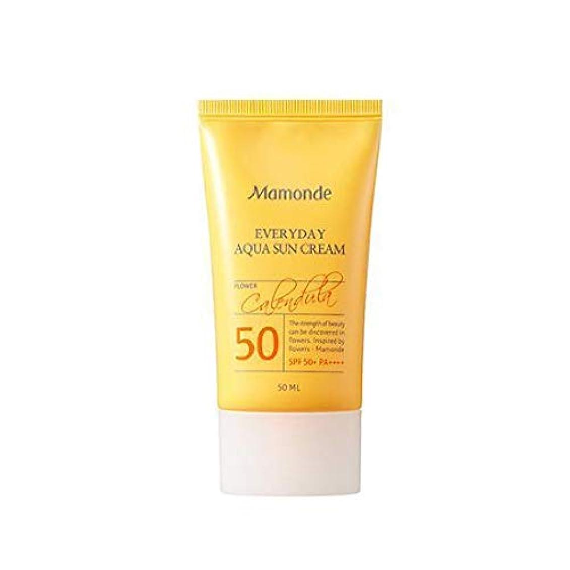 線形矢独立したMAMONDE マモンド エブリデイアクアサンクリーム (50ml),SPF50+PA++++ Everyday Aqua Sun Cream 韓国日焼け止め