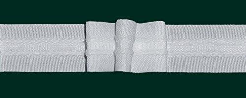 Ruther & Einenkel Faltenband mit 3 Falten, 26 mm, weiß, 250% / Aufmachung 10 m